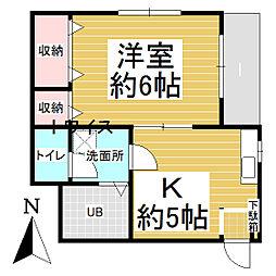 東京都青梅市東青梅2丁目の賃貸マンションの間取り