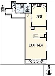 ロジュマン[1階]の間取り