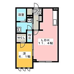 デュオーラ[2階]の間取り
