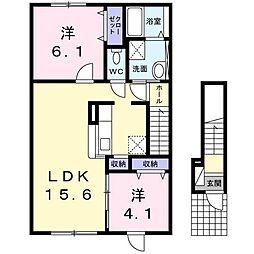 パンプキン[2階]の間取り