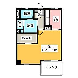 秀乃郷[2階]の間取り