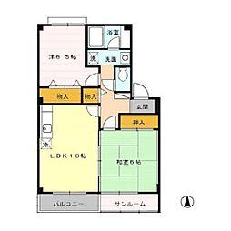 レジデンス横田南[2階]の間取り