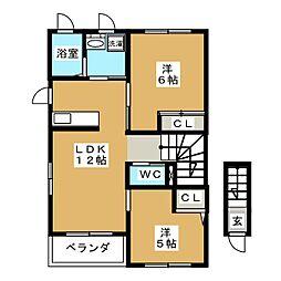 ジャンプ・II[2階]の間取り