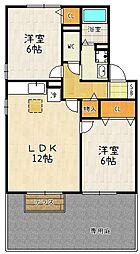 エスポワールシーマA棟[102号室]の間取り