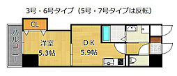THE SQUARE・Grand Residence[3階]の間取り