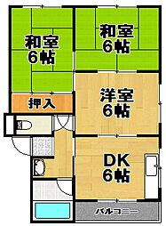第2向和マンション[2階]の間取り