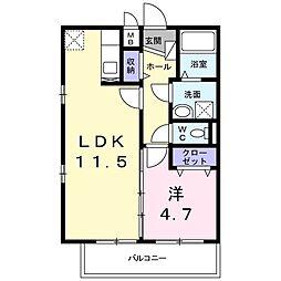 M・メゾン 3階1LDKの間取り