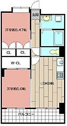 デザイナー・プリンセス・KY[703号室]の間取り