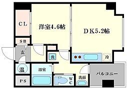 サンライフ堀江[4階]の間取り