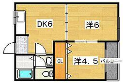 MAYUMIハイツ2番館[2階]の間取り