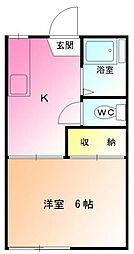 ハイツ中田[1階]の間取り