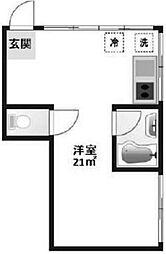 東京都新宿区三栄町の賃貸マンションの間取り