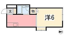 兵庫県姫路市東雲町4丁目の賃貸マンションの間取り