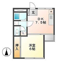 川島第一ビル[5階]の間取り