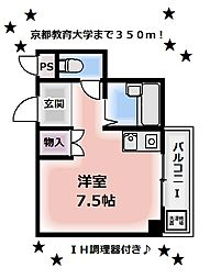 ハイツ福田[202号室]の間取り