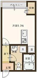 EXES篠尾[2階]の間取り