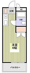 神奈川県相模原市南区鵜野森1丁目の賃貸アパートの間取り