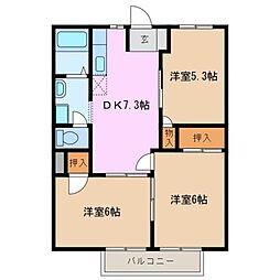 ラ フォーレ 西条 A棟[2階]の間取り
