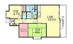 エヌハウス2[1階]の間取り
