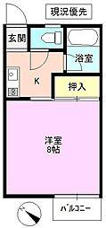 長野県上田市天神4丁目の賃貸アパートの間取り