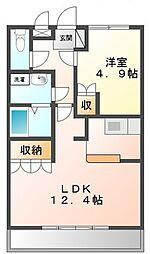 マ−キュリ−[1階]の間取り