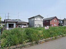 小美玉市納場の現地土地写真です。