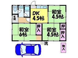 [一戸建] 愛媛県松山市越智3丁目 の賃貸【/】の間取り