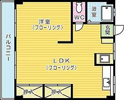 熊本ビル[503号室]の間取り