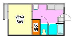 フォーブル森田[103号室]の間取り
