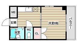 エステート野田[5階]の間取り