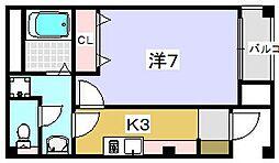ハーモニーライフ須山[201号室]の間取り