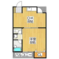 サンハウス紫野[302号室]の間取り