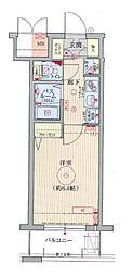 エステムコート梅田・天神橋リバーフロント 11階1Kの間取り