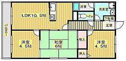 パーシモン千里[4階]の間取り