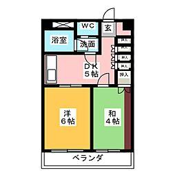 山源ハウス[3階]の間取り