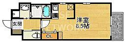 エイペックス京都東山三条[606号室号室]の間取り