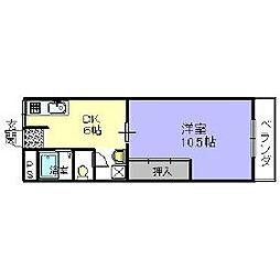 第一栄マンション[1階]の間取り