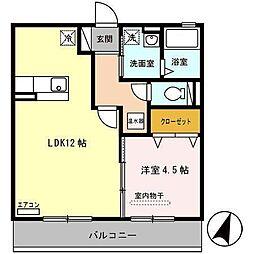 青森県八戸市大字上徒士町の賃貸アパートの間取り