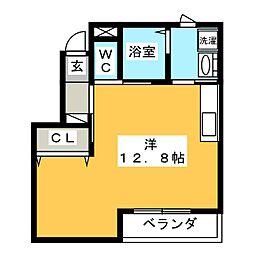 オレンジ コート[1階]の間取り