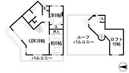兵庫県宝塚市今里町の賃貸マンションの間取り