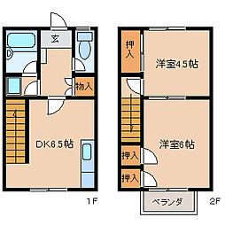 [テラスハウス] 福岡県久留米市津福本町 の賃貸【/】の間取り