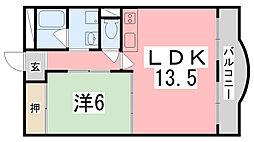ダイヤマンション[4-B号室]の間取り