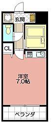 日野山第五ビル[510号室]の間取り