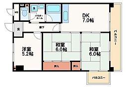 和泉シティーハイツ[7階]の間取り