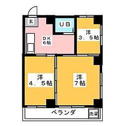 北野町マンション[3階]の間取り