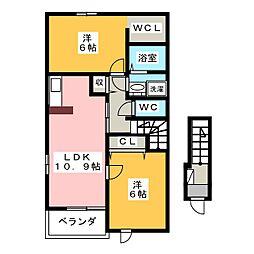 ピースジョイ[2階]の間取り