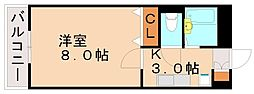 レストプール南片江[1階]の間取り