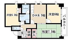 愛知県名古屋市瑞穂区大喜新町1丁目の賃貸マンションの間取り