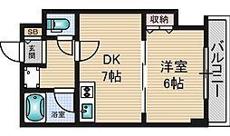 カーサミクニ[4階]の間取り