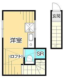 サークルハウス国立[2階]の間取り